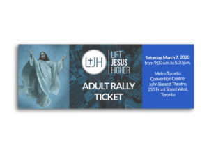 Adult Rally Ticket – 2020 Lift Jesus Higher Rally